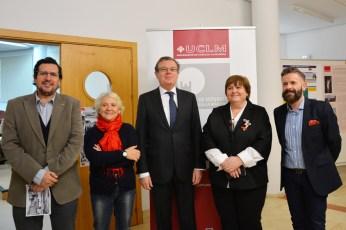 Barchino, García, Collado, Almarcha y Villena, en la apertura del encuentro