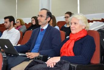 Los profesores Carmelo Vega y María de los Santos García. Ésta última presentará mañana el daguerrotipo de Toledo