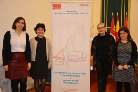 De izqd. a dcha.: Luisa María Hernández, María Isabel Sánchez, Pilar Gil y Ana Belén Tercero, equipo de archiveras de la UCLM