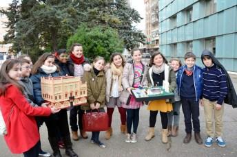 Alumnos del colegio Carlos Vázquez participantes en el proyecto