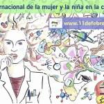 Cartel del Día Internacional de la Mujer y la Niña en la Ciencia