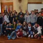 Autoridades universitarias con los participantes en el Trofeo Rector y en los Campeonatos de España Universitarios 2016