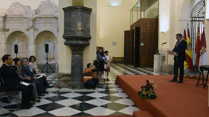 Acto de inauguración del Instituto Confucio de la UCLM, con sede en el Campus de Toledo.