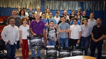 Entrega de premios del concurso Drone Challenge