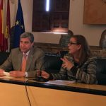 El profesor García Delgado durante su intervención en la Facultad de Ciencias Jurídicas y Sociales de Toledo