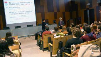 La catedrática Teresa Miras durante su visita al Campus de Toledo
