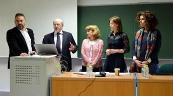 De izqda. a dcha.: Adán Nieto, Luis Arroyo, Cristina Rodríguez, Marta Muñoz de Morales y Vanessa Ballesteros