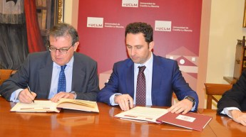 Miguel Ángel Collado y Luis Fernández-Bravo. © Gabinete Comunicación UCLM