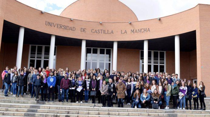 Concentración en el Campus de Albacete © Gabinete de Comunicación UCLM