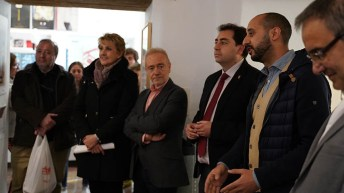 Inauguración de la exposición 'Arquitectura ubana'.