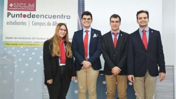 Ganadores de la fase local de la XII Liga de Debate Universitario de la UCLM (Inderogables, Albacete)