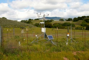 One of the climate monitoring stations at Sedgwick Reserve. Image credit: Dar Roberts