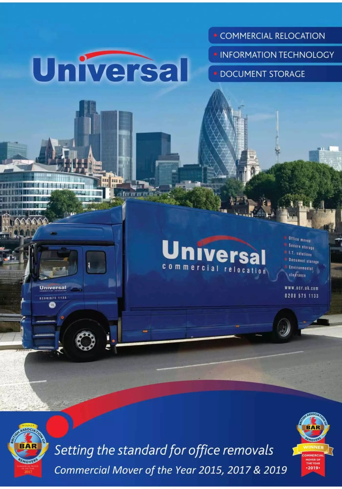 Current Universal Commercial Relocation brochure