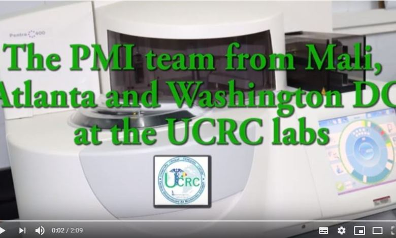 Photo of Vidéo of the visit of the PMI team from Mali, Atlanta and Washington DC at the UCRC labs