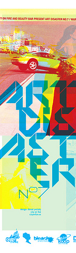 poster design inspiration 13 - art disaster number 7