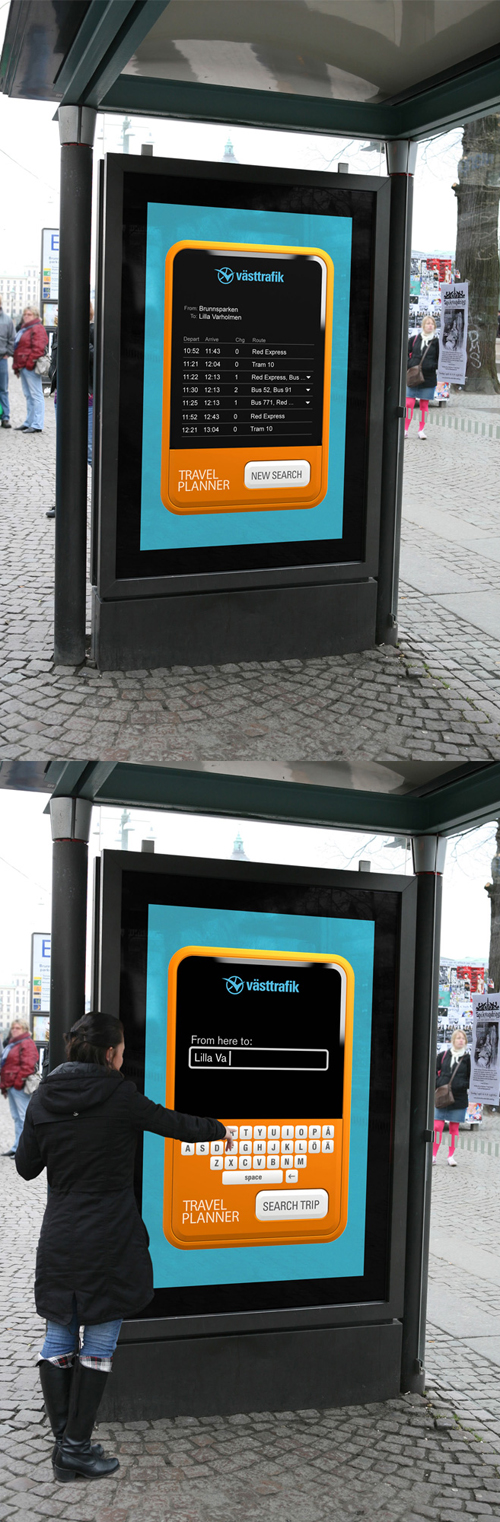 Creative Outdoor Advertisement Design - VastTrafik