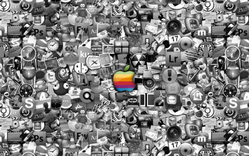 apple mac icons wallpaper