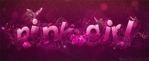 pink girl typography
