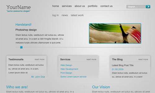 minimalist web layout tutorial