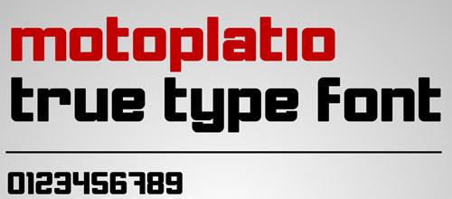 motoplatio font