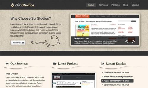 clean classy web design