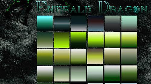 emerald dragon photoshop gradient