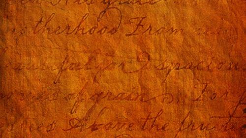 antique script texture
