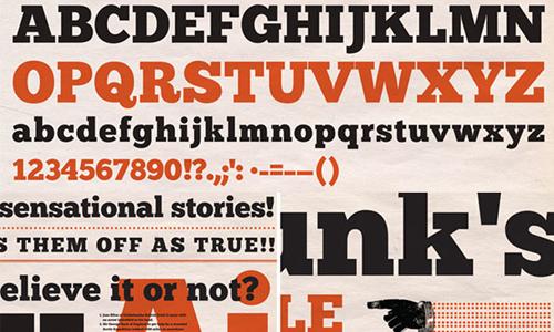 chunk five font