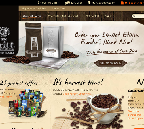 Coffee Websites - Cafebritt