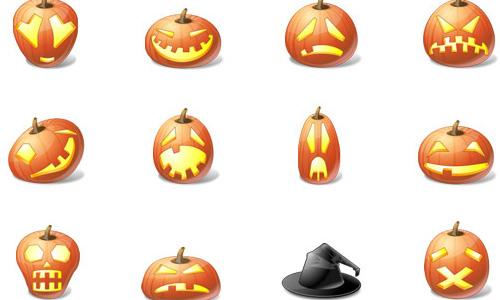 Halloween Icons - Halloween Pumpkins Emoticons