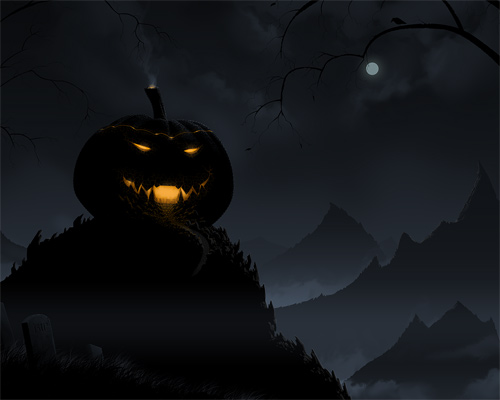Halloween Desktop Wallpapers - Pumpkin Castle