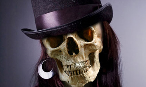 Halloween Photoshop Tutorials - Skull Face