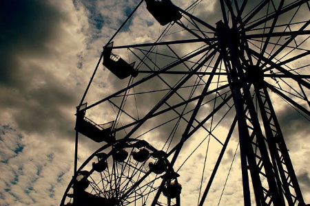 Silhouette Photos - Ferris Wheel Fall Fair