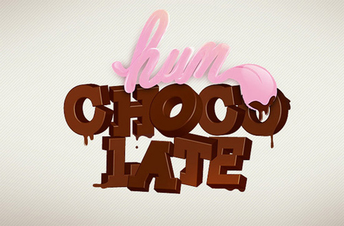 3d Typography Designs - Hum Chocolate