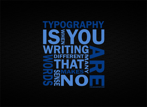 Typography WORD
