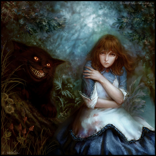 digital-painting-12-Alice-and-the-cheshire-cat