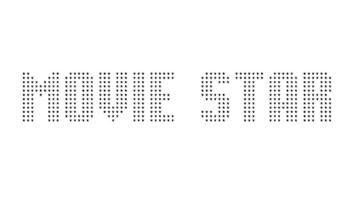 Movie Star font
