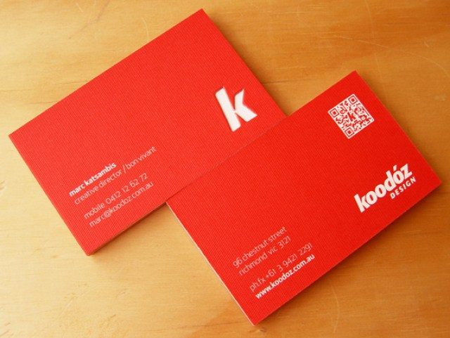koodoz business card - Back Of Business Card