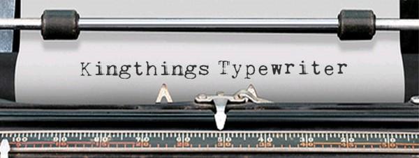 Kingthings Typewriter via YouTheDesigner
