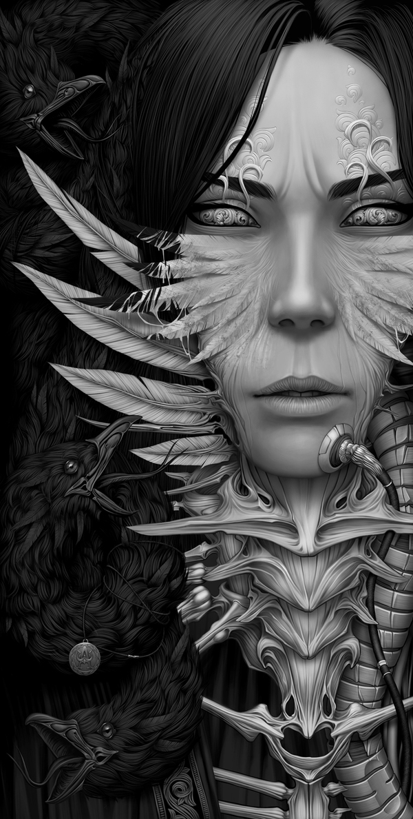 """Medusa"" - Digital Art by Alexander Fedosov via YouTheDesigner"