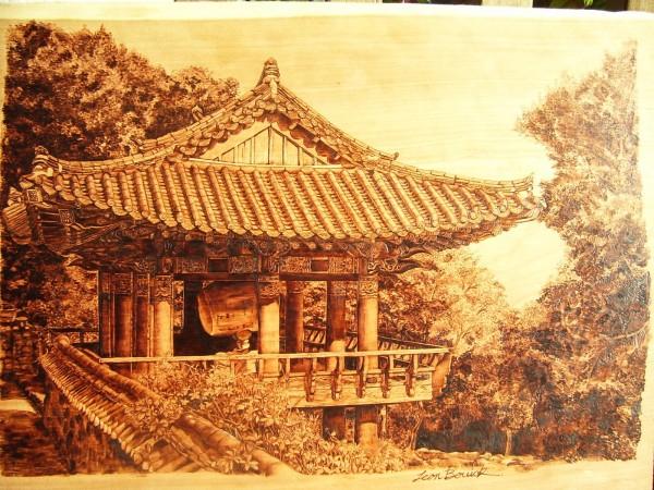 """""""Korea"""" - pyrography by Jean Bouick"""