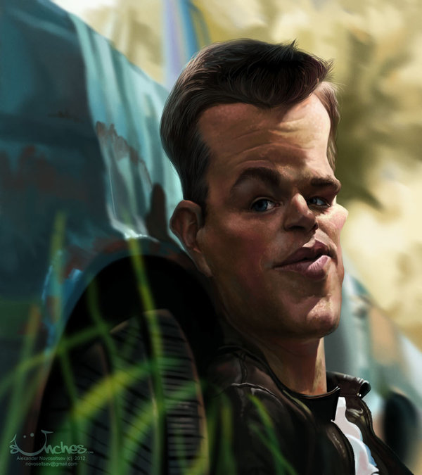 Matt Damon - Caricature by Alex Novoseltsev
