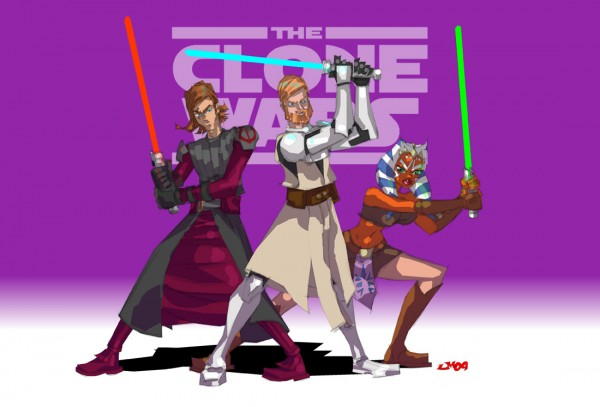 """Star Wars Clone Wars fan art"" by jasinmartin via YouTheDesigner"