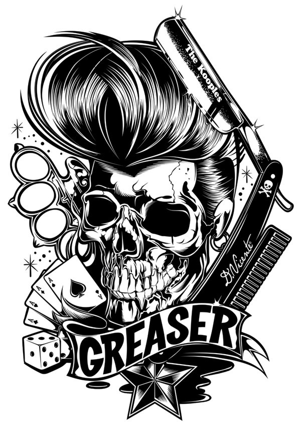 Psychobilly Themed Illustrations of David Vicente