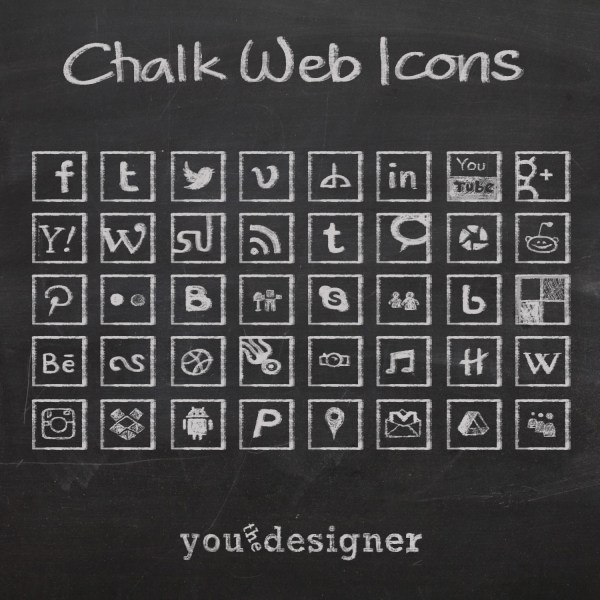 Chalk Web Icons by You The Designer
