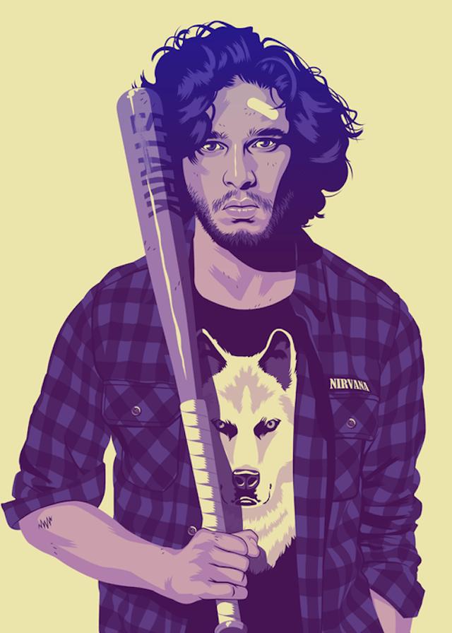Jon Snow | Illustration by Mike Wrobel