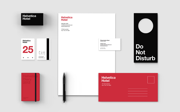 Helvetica Hotel by Albert Son