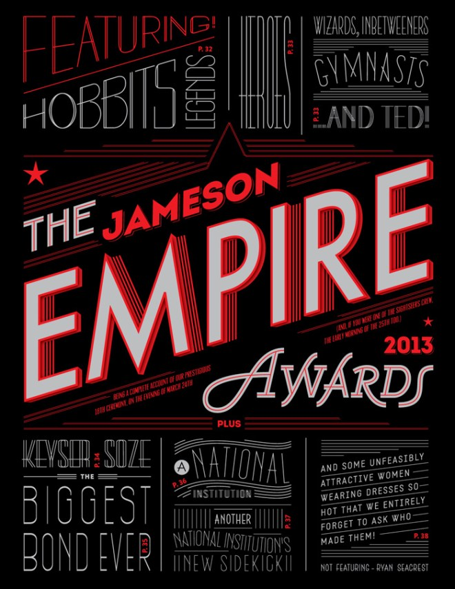 The Jameson Empire Awards | Typography and Lettering by Martina Flor