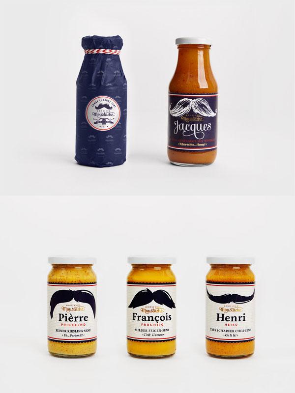 moustache packaging