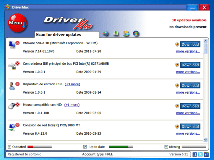 DriverMax Sürücü Yedekleme Programı